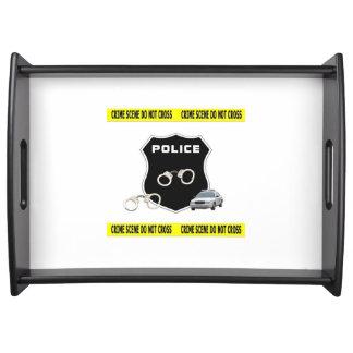Escena del crimen de la policía bandejas
