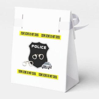Escena del crimen de la policía cajas para regalos de boda