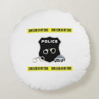 Escena del crimen de la policía cojín redondo