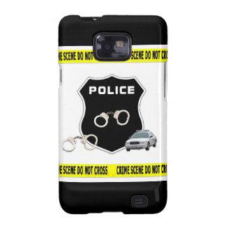 Escena del crimen de la policía galaxy SII carcasas