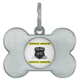 Escena del crimen de la policía placas de mascota