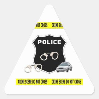 Escena del crimen de la policía pegatina triangular