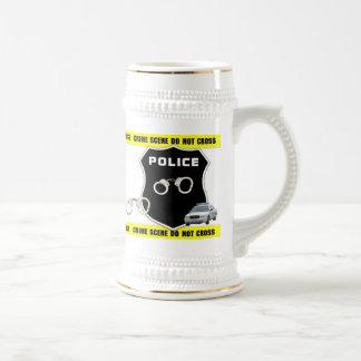 Escena del crimen jarra de cerveza