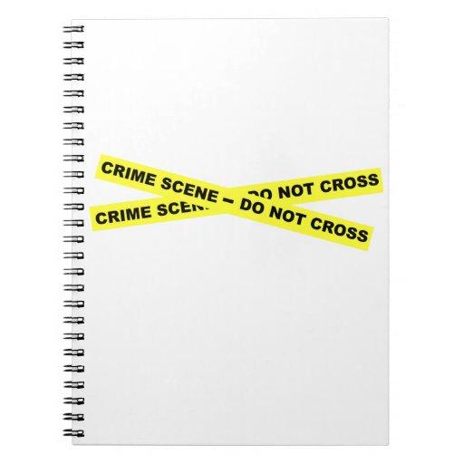 Escena del crimen - no cruce libros de apuntes