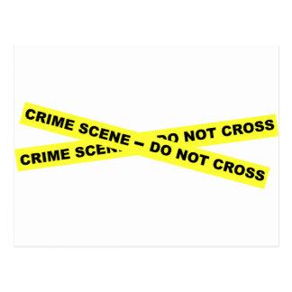 Escena del crimen - no cruce postales