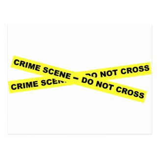 Escena del crimen - no cruce postal