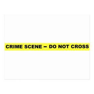 Escena del crimen - no cruce tarjeta postal