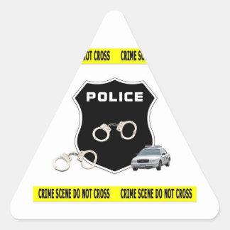 Escena del crimen pegatina triangular