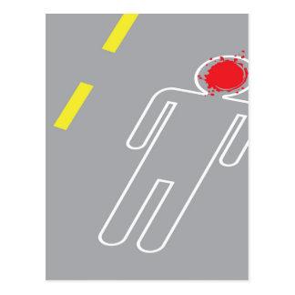 Escena del crimen tarjeta postal