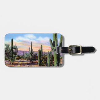 Escena del desierto de Arizona Sonoran Etiquetas Maleta