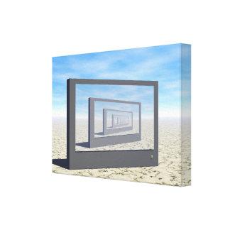 Escena del desierto de la pantalla plana lona estirada galerias