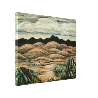 Escena del desierto de Marsden Hartley, paisaje Impresion De Lienzo