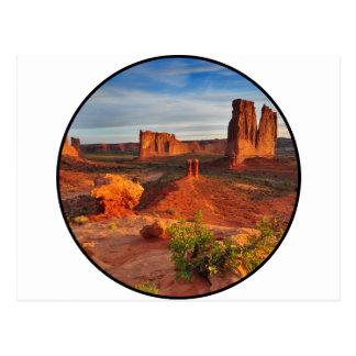 Escena del desierto tarjetas postales