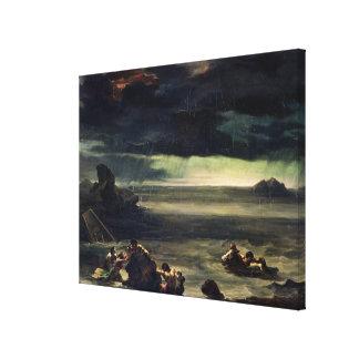 Escena del diluvio, 1818-20 lienzo envuelto para galerias