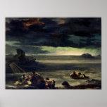 Escena del diluvio, 1818-20 póster