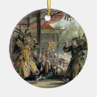 Escena del espectáculo de The Sun y de la luna Ornamentos De Navidad