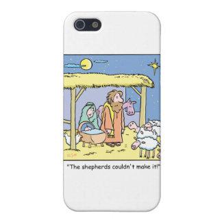 Escena del establo de Jesús del dibujo animado del iPhone 5 Fundas
