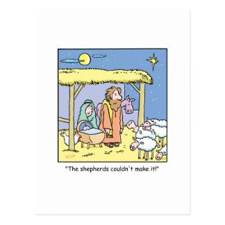 Escena del establo de Jesús del dibujo animado del Tarjetas Postales