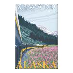 Escena del ferrocarril de Alaska - Seward, Alaska Lienzo Envuelto Para Galerias