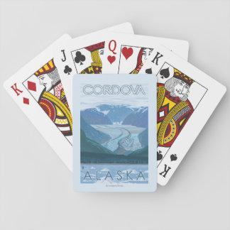 Escena del glaciar - Cordova, Alaska Cartas De Juego