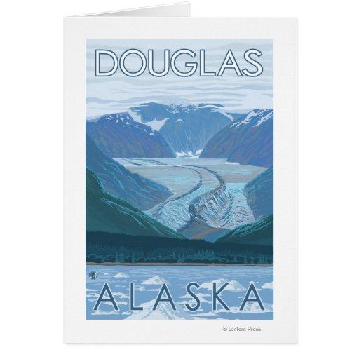 Escena del glaciar - Douglas, Alaska Tarjeta
