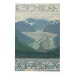 Escena del glaciar - Ketchikan, Alaska Impresión En Madera