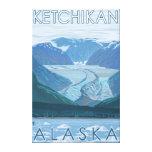 Escena del glaciar - Ketchikan, Alaska Impresiones En Lona Estiradas