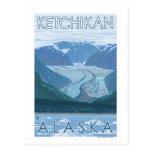Escena del glaciar - Ketchikan, Alaska Tarjetas Postales