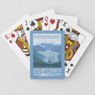 Escena del glaciar - Petersburgo, Alaska Baraja De Póquer