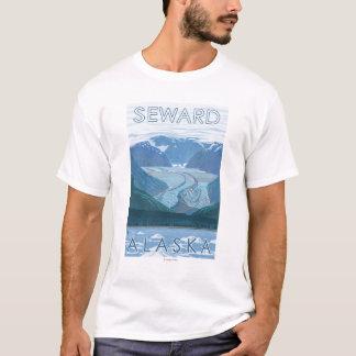 Escena del glaciar - Seward, Alaska Playera