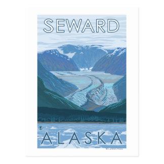 Escena del glaciar - Seward, Alaska Postales
