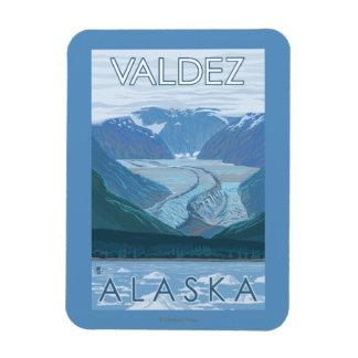 Escena del glaciar - Valdez, Alaska Imán De Vinilo