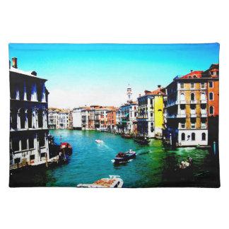 Escena del Gran Canal de Venecia Manteles Individuales
