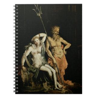 Escena del infierno: detalle que muestra Hades y P Libros De Apuntes Con Espiral