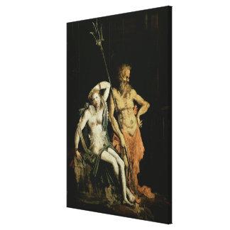 Escena del infierno: detalle que muestra Hades y P Impresiones En Lona Estiradas