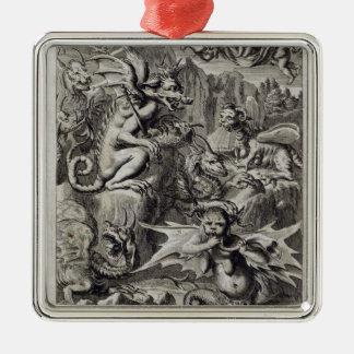 Escena del infierno, ejemplo de la pieza 3 Cha del Ornamentos De Reyes