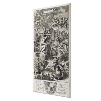 Escena del infierno, ejemplo de la pieza 3 Cha del Impresión En Lona