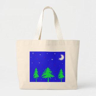 Escena del invierno bolsas lienzo