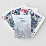 Escena del invierno cartas de juego