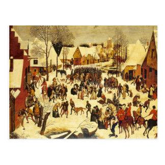 Escena del invierno de Lons le Saunier Museum Breu Tarjeta Postal