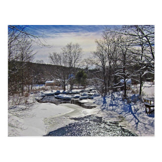 Escena del invierno del arroyo de la nutria postal