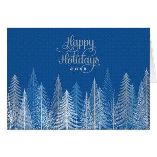 Escena del invierno del negocio buenas fiestas el tarjeta de felicitación
