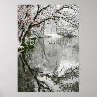 Escena del invierno del poster