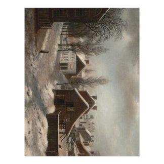 Escena del invierno en el individuo de Brooklyn -  Plantillas De Membrete
