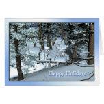 Escena del invierno Nevado Felicitacion