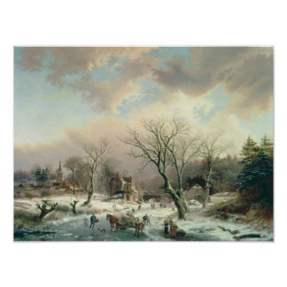 Escena del invierno posters