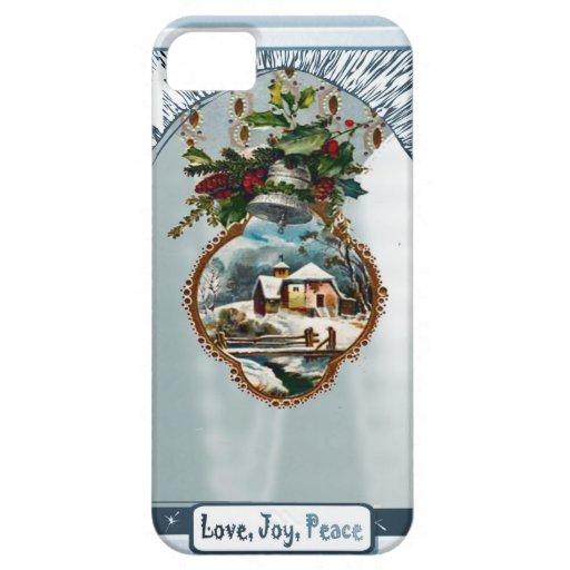 Escena del invierno, paz de la alegría del amor iPhone 5 cárcasas
