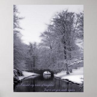 Escena del invierno póster
