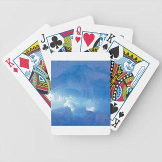 Escena del invierno pura cartas de juego