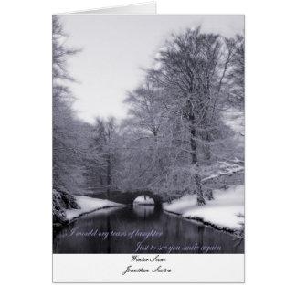 Escena del invierno, sacristán de SceneJonathan Tarjeta De Felicitación